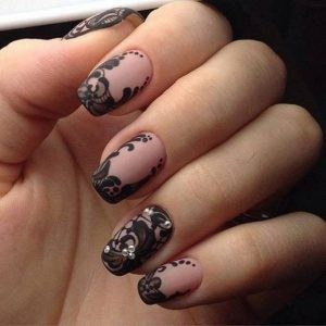 nail art pizzo tutorial
